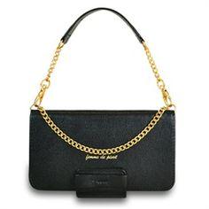 Samsung Galaxy S4 Femme Series Luxury Handbag Wallet Stand Case (Black)