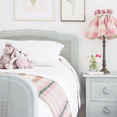 "Little girls bedroom design from the wonderful Ellen Ripa Interiors - ""So excited to finally share a first pic from our recently completed London Mews project! It was lovely creating schemes for the sweetest little girls and their parents. Here we went for a more Classic Scandinavian look"" #scandinavianinteriordesign"