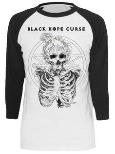 "Unisex ""Dead By Dawn"" Raglan Tee by Black Hope Curse (Black) #inkedshop #graphictee #fashion #top #art"