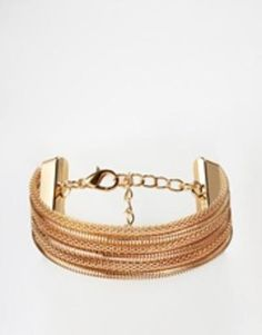 paper dolls multi chain bracelet  gold #jewelry #bracelet #accessories #gold #covetme