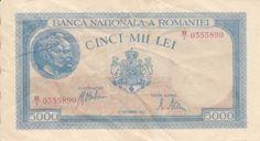 Banknote: Cinci Mii Lei Banknote Romanian Romania 28 Septemvrie 1943 Challenge Coins, My Memory, Traditional House, Romania, Childhood Memories, Finance, Bucharest, Badges, Urban