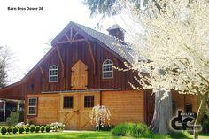 Gable end of a Barn Pros Dover series barn