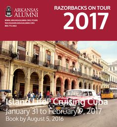#RazorbacksOnTour, be among the first U.S. travelers to experience Cuba during this unprecedented People-to-People opportunity including three nights in Havana and six nights aboard the small sailing ship M.Y. LE PONANT. See Old Havana, Cienfuegos, Trinidad and the Viñales Valley. Interact with local experts and immerse yourself in Cuba's history, culture and daily life. http://ow.ly/9Y92301d9iw