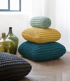 garter stitch never looked so good. Home decor knitting for all.