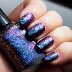 Island Universe - teal/blue/purple mega chrome flakie – Indigo Bananas