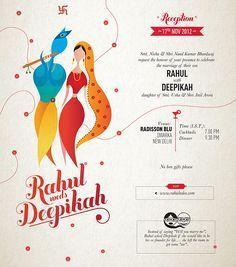 Rahul & Dee: Wedding cards on Behance Wedding Card Wordings, Wedding Card Quotes, Hindu Wedding Cards, Indian Wedding Invitation Cards, Reception Invitations, Creative Wedding Invitations, Wedding Invitation Card Template, Wedding Card Templates, Wedding Invitation Design