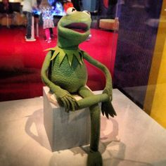 The original Kermit the Frog at the Smithsonian Museum of American History in DC...I <3 Kermit!