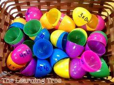 Multiplication facts using easter eggs