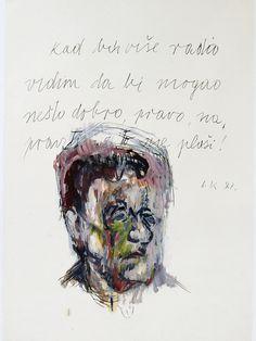Ivan Kožarić, Autoportret (Tekst), [Self-Portrait (Text)], 1987.