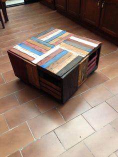 Pallet Wood and Crate Coffee Table | 99 Pallets