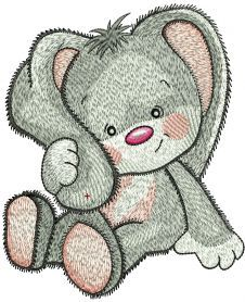 Cute Bunny girl embroidery design 10. Machine embroidery design. www.embroideres.com