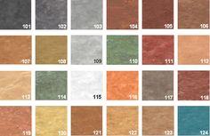La couleur de base est représentée par la couleur princip Home Decor, Valencia, Style, Bathroom, Home, Colour Chart, Polished Concrete, Printed Concrete, Cement