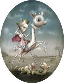 Pop Surrealism is one, if not my most, favourite art genre! Whimsical, weird, soft and adorable. Art by Nicoletta Ceccoli.