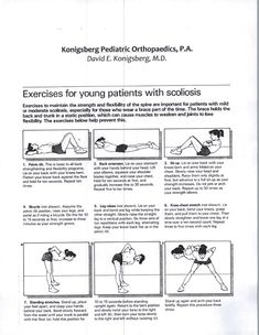 The Best Scoliosis Exercises For Lower Back - Best Scoliosis Exercises Scoliosis Exercises, Stretching Exercises, Stretches, Lower Back Exercises, Back Muscles, Physical Therapy, Pediatrics, Back Pain, Workout Programs