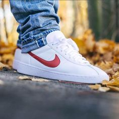 NikeLab Bruin Leather: White/Red