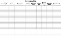 Inventory Template Word This Inventory Template Helps You To Calculate And Manage Your .