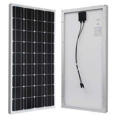 100-Watt Solar Panel Great for 12-Volt Battery Charging RV Camping Off-Grid