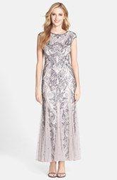 Pisarro Nights Beaded Mermaid Dress (Regular & Petite)