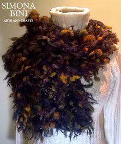 Sciarpa autunno fatta a telaio