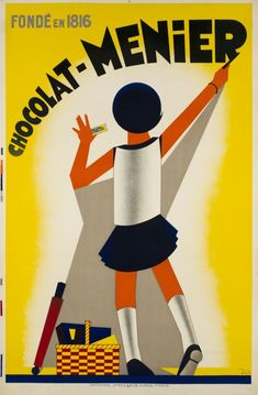 "1931 ""Chocolat Menier, French vintage advert poster"