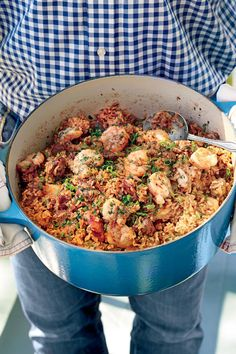 Creole Seafood Jambalaya | One-pot dinner? Yes, please! Rice is a staple in Southern kitchens because it's easy to cook, quick to make, and extremely versatile. There are so many varieties of rice, so your dinner can take any flavorful direction. Whether you want Asian-inspired shrimp fried rice, Southwest chicken and rice bowls, creole seafood jambalaya, or Southern chicken bog, rice can transport your meal to any region. These recipes include delicious rice bakes, casseroles, and jambalaya…