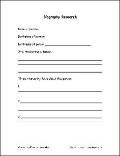 Best ideas about Biography Project on Pinterest   Biography     Edutopia