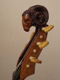 head 2011 Ram tenor viol birds eye maple sides and back