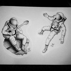 #тату #татуировка #татуэскиз #эскиз #графика #дотворк #дотворктату #чб #космонавт #космос #космонавты #астронавт #tattoo #tattoosketch #sketch #graphic #dotwork #dotworktattoo #bw #astronaut #space