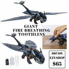 How to Train Your Dragon 3 Hidden World Giant Fire Breathing Toothless - Spin Master Toys Online, Toothless, How To Train Your Dragon, Spin, Breathe, Fire, World, Httyd, The World