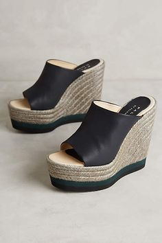 Espadrille wedges - totally need these in my closet!