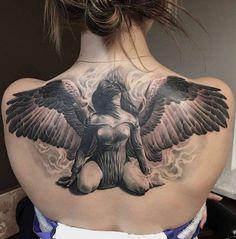 female - angel tattoo