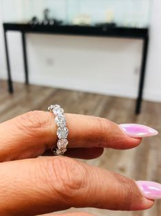 Round and round ... #rounddiamonds #weddingbands #whitegold #eternitybands