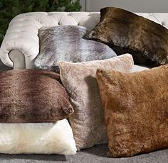 Lounge in luxury on our sumptuous faux fur floor cushions.