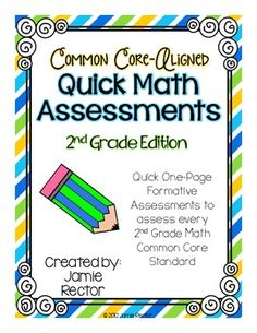 Common Core Standards Math Quick Assessments - NEW LOOK!