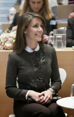 24 JANUARY 2014 Yesterday: Princess Marie attended the International House Copenhagen opening event.