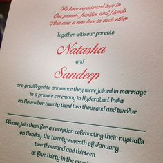 Another #letterpress #weddinginvitation printed so that you can write your guests names on them