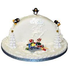 Half Christmas, Christmas Makes, Christmas Baking, Christmas Foods, Ballerina Cakes, Tool Cake, Christmas Cake Decorations, Winter Wonderland Party, Cake Online