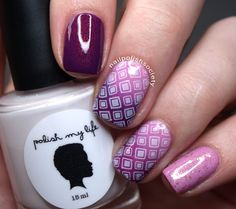 40 Great Nail Art Ideas Challenge: 3 Shades Of Purple   Geometric