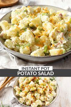 Greek Potato Salads, Loaded Baked Potato Salad, Greek Potatoes, Easy Potato Salad, Recipe For Potato Salad, Potato Salad No Mayo, Traditional Potato Salad Recipe, Pressure Cooker Potatoes, Potato Salad Dressing