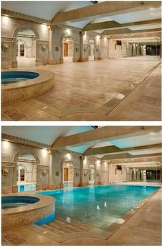 Marble floor with elevator retracting floors for pool dream house