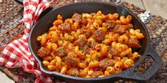 One Pot Cheesy Andouille Sausage Skillet Pasta Will Make Your Nights Much Easier