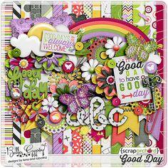 Digital Scrapbook Kit, Good Day by Bella gypsy