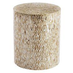 Capiz Round Drum Accent Table | Pier 1 Imports