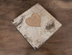 wedding guest book with carved birch bark by ThreeTreesBindery Love!!!!