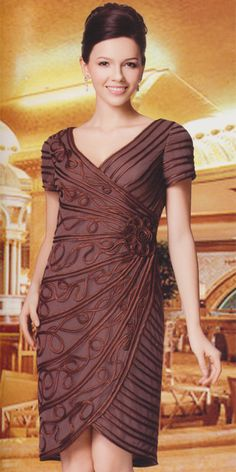NN5505-210      Sizes: 8 10 12 14 16 18 20 22 24    Colors: Brown, Ivory ( 1pc Mesh Nina Nischelle Dress )