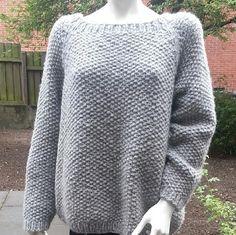 Virkelig lækker #strikket #trøje i det dejligste #uld Meget nem og #strikke