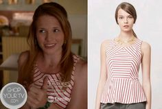 Shop Your Tv: Switched at Birth: Season 2 Episode 16 Daphne's Red Striped Peplum Top