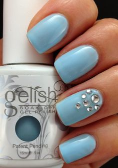 We have organized beautiful collection of nail polish designs and nail art designs. These designs can be tried at various occasions. It is not necessary to try only simple nail art designs. You can experiment with colors and designs to match your style. Popular Nail Designs, Best Nail Art Designs, Colorful Nail Designs, Nail Polish Designs, Gel Polish, Light Blue Nail Designs, Gelish Nails, My Nails, Classy Nail Art