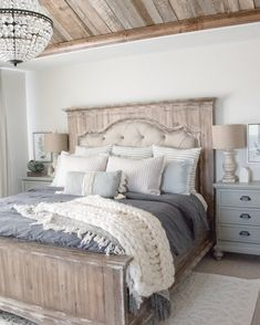 56 Best Farmhouse Bedroom Furniture Design Ideas And Decor - Home Decoration Bedroom Sets, Dream Bedroom, Home Bedroom, Beds Master Bedroom, Bed Room, Bedroom Table, Adult Bedroom Ideas, Cottage Bedroom Decor, Farm Bedroom