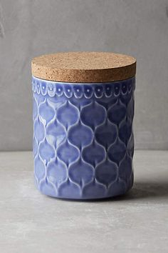 $24 | small canister | Adelaide Kitchenware - anthropologie.com